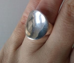 Sterling Silver modernist minimal artist ring